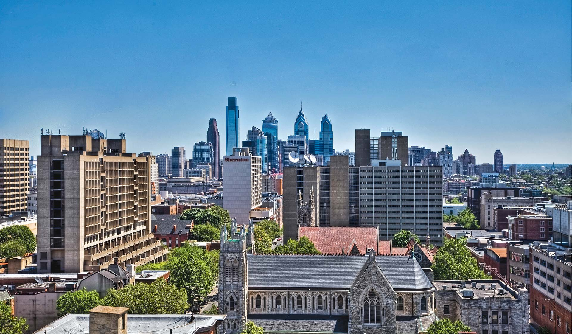 Chestnut Hall Apartments - view of downtown Philadelphia from balcony - Philadelphia, PA